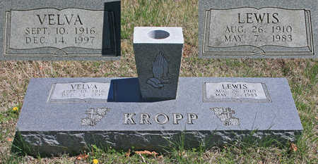 KROPP, VELVA - Benton County, Arkansas | VELVA KROPP - Arkansas Gravestone Photos