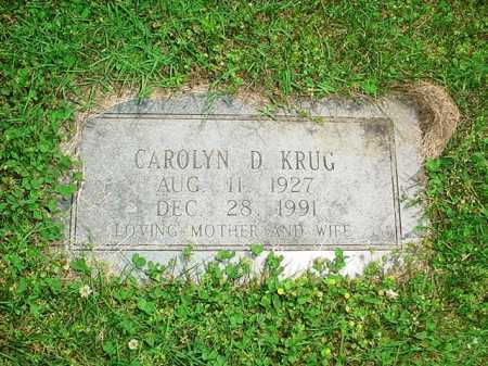 KRUG, CAROLYN D. - Benton County, Arkansas | CAROLYN D. KRUG - Arkansas Gravestone Photos