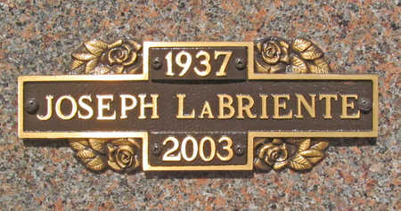 LA BRIENTE, JOSEPH - Benton County, Arkansas | JOSEPH LA BRIENTE - Arkansas Gravestone Photos