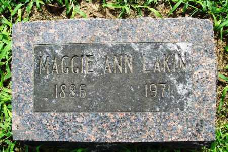 LAKIN, MAGGIE ANN - Benton County, Arkansas | MAGGIE ANN LAKIN - Arkansas Gravestone Photos