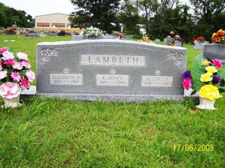 LAMBETH, ELIZABETH B. - Benton County, Arkansas | ELIZABETH B. LAMBETH - Arkansas Gravestone Photos