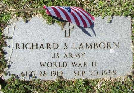 LAMBORN (VETERAN WWII), RICHARD SHERMAN - Benton County, Arkansas | RICHARD SHERMAN LAMBORN (VETERAN WWII) - Arkansas Gravestone Photos