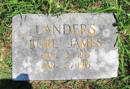 LANDERS, BURL JAMES - Benton County, Arkansas | BURL JAMES LANDERS - Arkansas Gravestone Photos