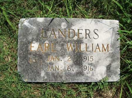 LANDERS, EARL WILLIAM - Benton County, Arkansas | EARL WILLIAM LANDERS - Arkansas Gravestone Photos
