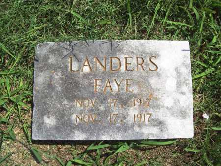 LANDERS, FAYE - Benton County, Arkansas | FAYE LANDERS - Arkansas Gravestone Photos