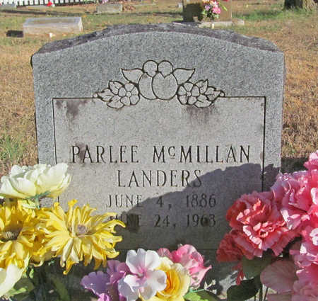 MCMILLAN LANDERS, PARLEE - Benton County, Arkansas   PARLEE MCMILLAN LANDERS - Arkansas Gravestone Photos