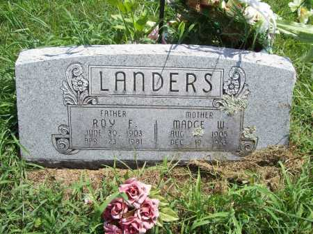 LANDERS, MADGE W - Benton County, Arkansas | MADGE W LANDERS - Arkansas Gravestone Photos