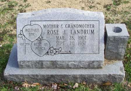 RANDLE LANDRUM, ROSE J. - Benton County, Arkansas | ROSE J. RANDLE LANDRUM - Arkansas Gravestone Photos