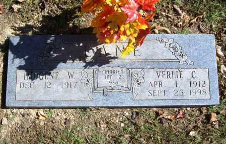LANE, VERLIE C. - Benton County, Arkansas | VERLIE C. LANE - Arkansas Gravestone Photos