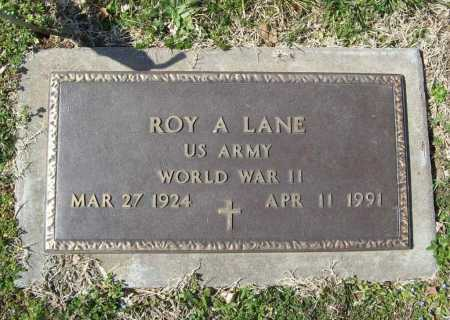 LANE (VETERAN WWII), ROY A - Benton County, Arkansas | ROY A LANE (VETERAN WWII) - Arkansas Gravestone Photos