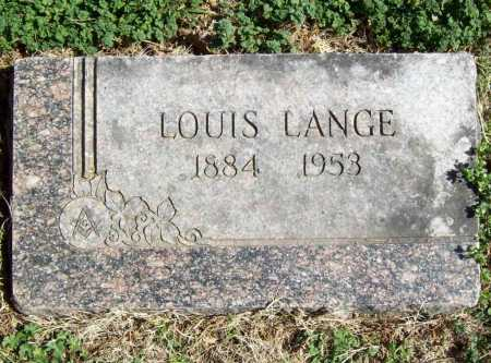 LANGE, LOUIS - Benton County, Arkansas | LOUIS LANGE - Arkansas Gravestone Photos