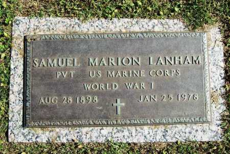LANHAM (VETERAN WWI), SAMUEL MARION - Benton County, Arkansas | SAMUEL MARION LANHAM (VETERAN WWI) - Arkansas Gravestone Photos