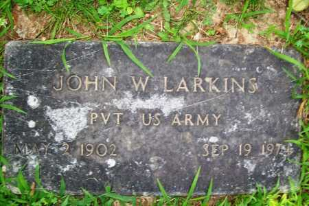 LARKINS (VETERAN), JOHN W. - Benton County, Arkansas | JOHN W. LARKINS (VETERAN) - Arkansas Gravestone Photos
