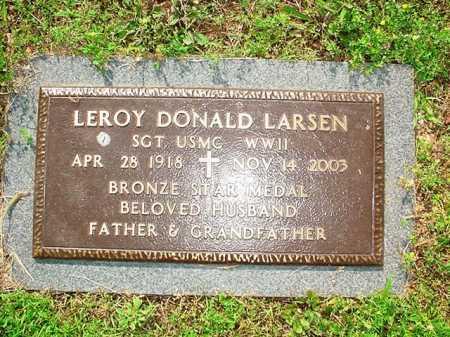 LARSEN (VETERAN WWII), LEROY DONALD - Benton County, Arkansas | LEROY DONALD LARSEN (VETERAN WWII) - Arkansas Gravestone Photos