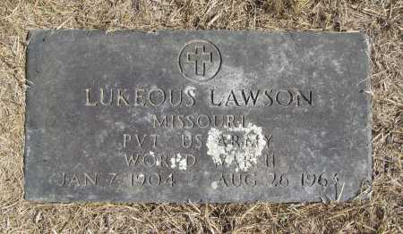 LAWSON (VETERAN WWII), LUKEOUS - Benton County, Arkansas | LUKEOUS LAWSON (VETERAN WWII) - Arkansas Gravestone Photos