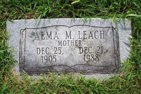LEACH, ALMA M. - Benton County, Arkansas | ALMA M. LEACH - Arkansas Gravestone Photos