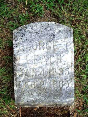 LEACH, GEORGE T. - Benton County, Arkansas | GEORGE T. LEACH - Arkansas Gravestone Photos