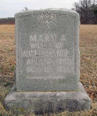 LEGRAND, MARY A. - Benton County, Arkansas   MARY A. LEGRAND - Arkansas Gravestone Photos