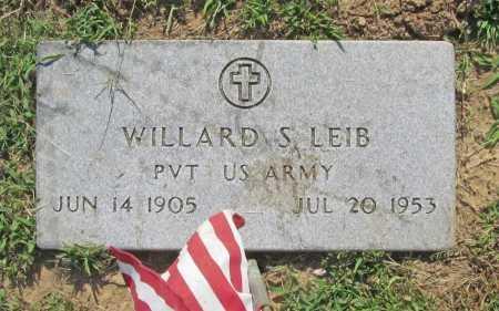 LEIB (VETERAN), WILLARD S - Benton County, Arkansas | WILLARD S LEIB (VETERAN) - Arkansas Gravestone Photos