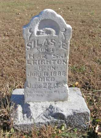 LEIGHTON, SILAS E. - Benton County, Arkansas | SILAS E. LEIGHTON - Arkansas Gravestone Photos