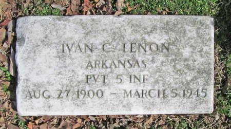 LENON (VETERAN), IVAN G - Benton County, Arkansas | IVAN G LENON (VETERAN) - Arkansas Gravestone Photos