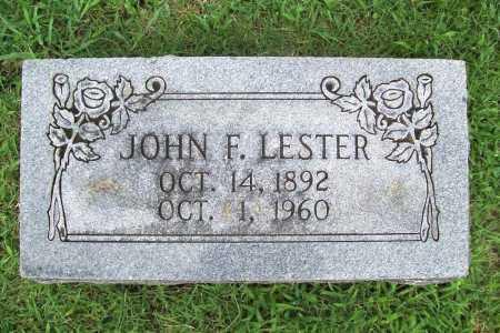 LESTER, JOHN F. - Benton County, Arkansas | JOHN F. LESTER - Arkansas Gravestone Photos