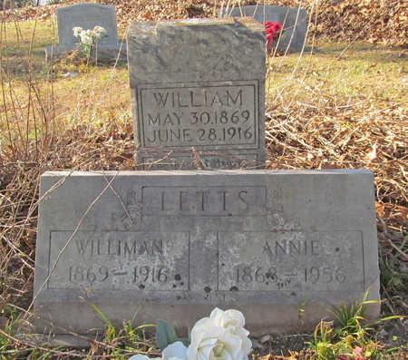 LETTS, WILLIAM - Benton County, Arkansas | WILLIAM LETTS - Arkansas Gravestone Photos
