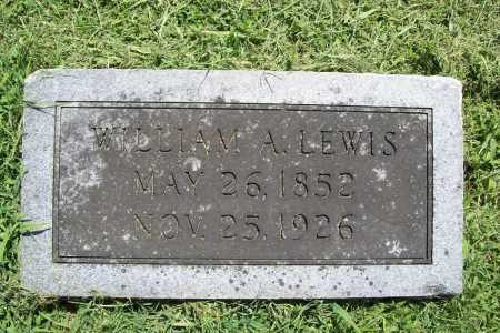 LEWIS, WILLIAM A. - Benton County, Arkansas | WILLIAM A. LEWIS - Arkansas Gravestone Photos