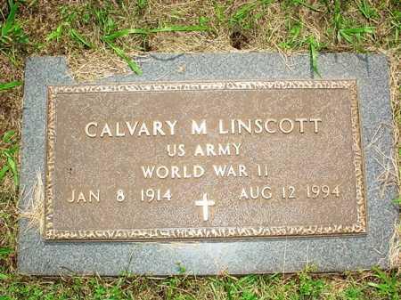 LINSCOTT (VETERAN WWII), CALVARY M. - Benton County, Arkansas | CALVARY M. LINSCOTT (VETERAN WWII) - Arkansas Gravestone Photos