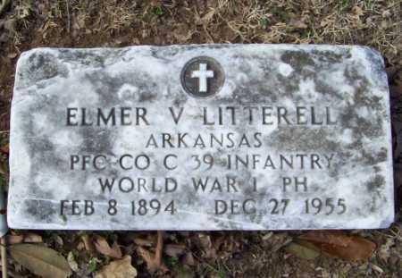 LITTERELL (VETERAN WWI), ELMER V - Benton County, Arkansas | ELMER V LITTERELL (VETERAN WWI) - Arkansas Gravestone Photos