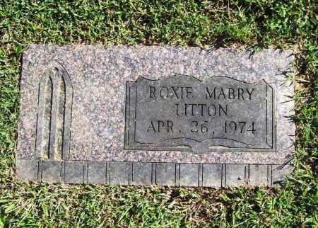 LITTON, ROXIE MABRY - Benton County, Arkansas | ROXIE MABRY LITTON - Arkansas Gravestone Photos