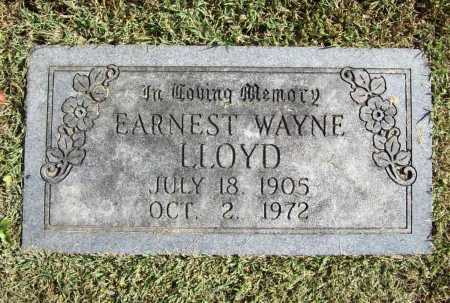 LLOYD, EARNEST WAYNE - Benton County, Arkansas | EARNEST WAYNE LLOYD - Arkansas Gravestone Photos