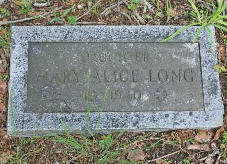 LONG, MARY ALICE - Benton County, Arkansas | MARY ALICE LONG - Arkansas Gravestone Photos