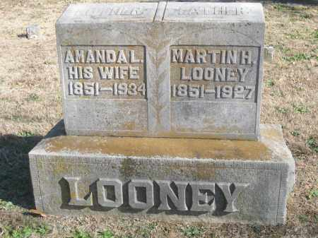 LOONEY (VETERAN CSA), MARTIN H - Benton County, Arkansas | MARTIN H LOONEY (VETERAN CSA) - Arkansas Gravestone Photos