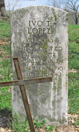 LOPEZ (VETERAN WWI), IVO T - Benton County, Arkansas | IVO T LOPEZ (VETERAN WWI) - Arkansas Gravestone Photos