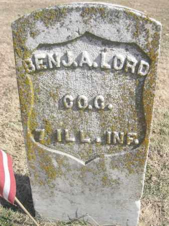 LORD (VETERAN UNION), BENJAMIN A. - Benton County, Arkansas | BENJAMIN A. LORD (VETERAN UNION) - Arkansas Gravestone Photos