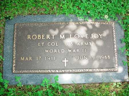 LOVEJOY (VETERAN WWII), ROBERT M. - Benton County, Arkansas | ROBERT M. LOVEJOY (VETERAN WWII) - Arkansas Gravestone Photos