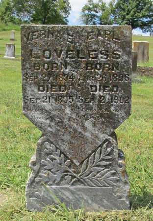 LOVELESS, EARL E - Benton County, Arkansas | EARL E LOVELESS - Arkansas Gravestone Photos