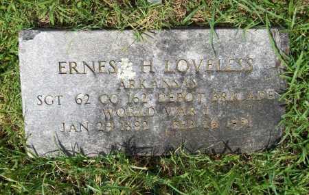LOVELESS (VETERAN WWI), ERNEST H. - Benton County, Arkansas | ERNEST H. LOVELESS (VETERAN WWI) - Arkansas Gravestone Photos