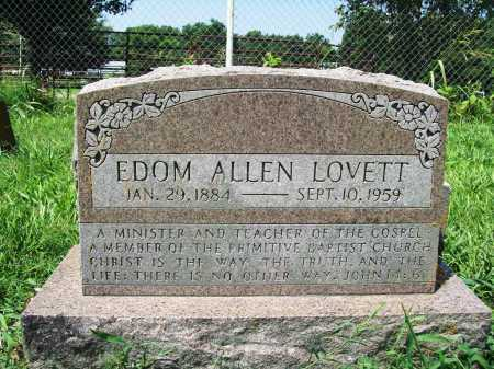 LOVETT, EDOM ALLEN - Benton County, Arkansas | EDOM ALLEN LOVETT - Arkansas Gravestone Photos