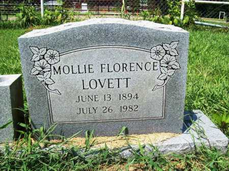 LOVETT, MOLLIE FLORENCE - Benton County, Arkansas | MOLLIE FLORENCE LOVETT - Arkansas Gravestone Photos