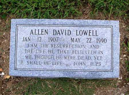 LOWELL, ALLEN DAVID - Benton County, Arkansas | ALLEN DAVID LOWELL - Arkansas Gravestone Photos