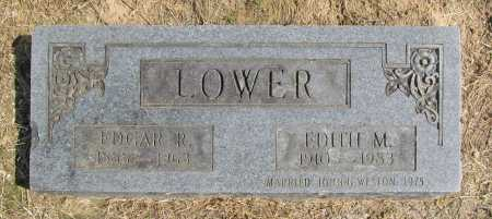 LOWER, EDGAR R. - Benton County, Arkansas | EDGAR R. LOWER - Arkansas Gravestone Photos