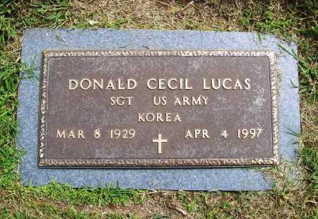 LUCAS (VETERAN KOR), DONALD CECIL - Benton County, Arkansas | DONALD CECIL LUCAS (VETERAN KOR) - Arkansas Gravestone Photos