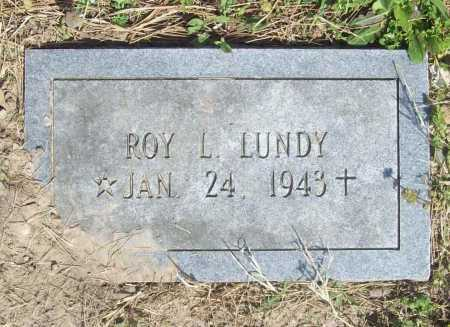 LUNDY, ROY L. - Benton County, Arkansas | ROY L. LUNDY - Arkansas Gravestone Photos