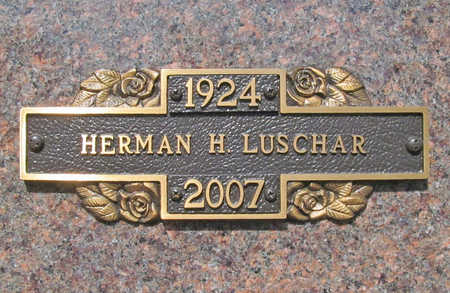 LUSCHAR (VETERAN WWII), HERMAN H - Benton County, Arkansas | HERMAN H LUSCHAR (VETERAN WWII) - Arkansas Gravestone Photos