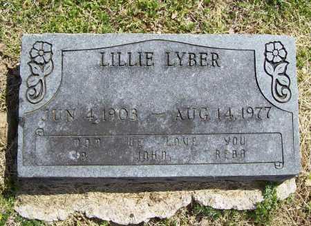 LYB(Y)ER, LILLIE - Benton County, Arkansas | LILLIE LYB(Y)ER - Arkansas Gravestone Photos