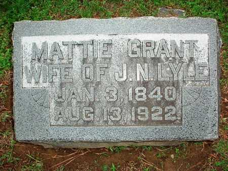 GRANT LYLE, MATTIE - Benton County, Arkansas | MATTIE GRANT LYLE - Arkansas Gravestone Photos