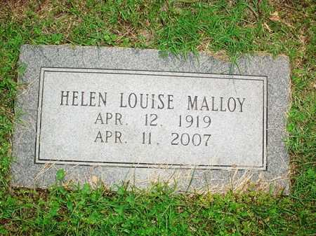 MALLOY, HELEN LOUISE - Benton County, Arkansas | HELEN LOUISE MALLOY - Arkansas Gravestone Photos