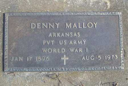 MALLOY (VETERAN WWI), DENNY - Benton County, Arkansas | DENNY MALLOY (VETERAN WWI) - Arkansas Gravestone Photos